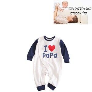 Image 1 - 2019 אביב חדש תינוקות בגדי Romper כותנה מכתב הדפסת 10.15