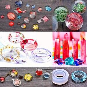 Image 5 - Handmade Crystal Glue Mould Mold Set Resin Jewelry Mold Kit 83pcs Bracelet Pendant Silicone Molds CX17