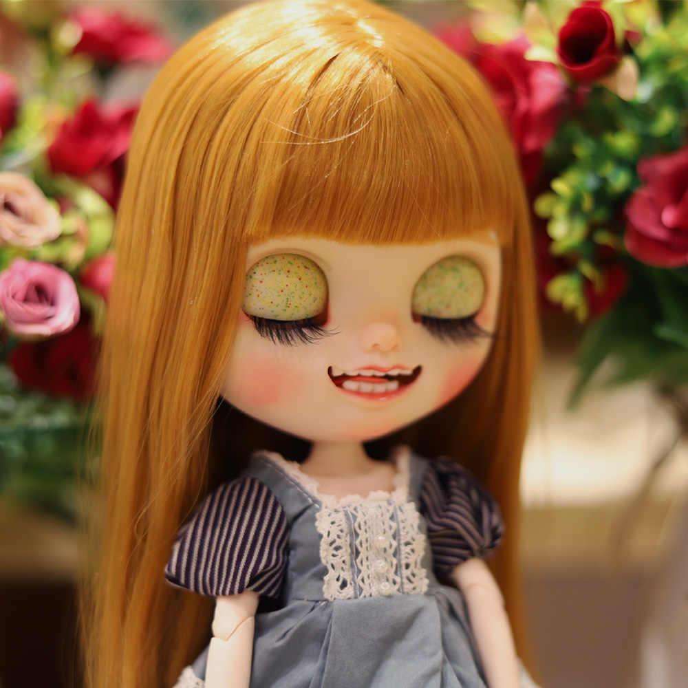 Neo Blyth Pop Nbl 1/6 Bjd Aangepaste Frosted Gezicht, grote Ogen Doll Make Ball Jointed Doll Met Pruik Met Slaap Ogen Ballet Meisje