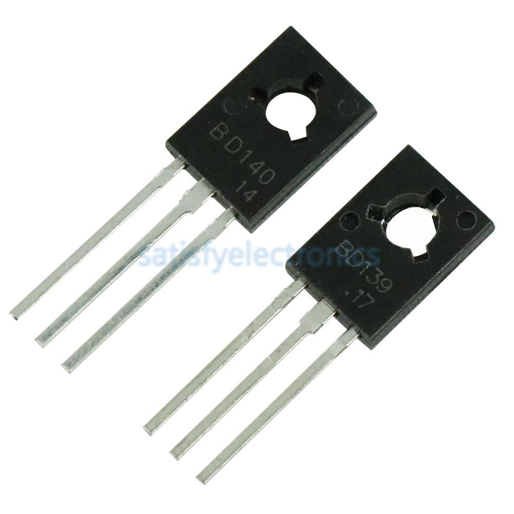 20pcs/lot 10PCS BD139+BD140 Each 10pcs Transistor TO-126 NPN PNP 80V 1.5A TO126 Silicon Triode Transistor Assortment Kit