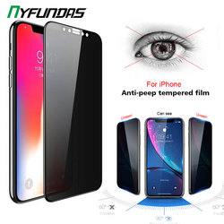 3D Privacy Screen Protector for Apple iPhone 11 Pro Max 12 XR X XS 8 Plus 7 6 Anti Spy Tempered Glass Protection Protective Film