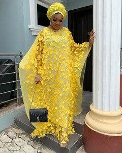 Image 5 - 2019 الخريف سوبر حجم جديد المرأة الأفريقية Dashiki موضة فضفاض التطريز فستان طويل فستان أفريقي للنساء الملابس الأفريقية