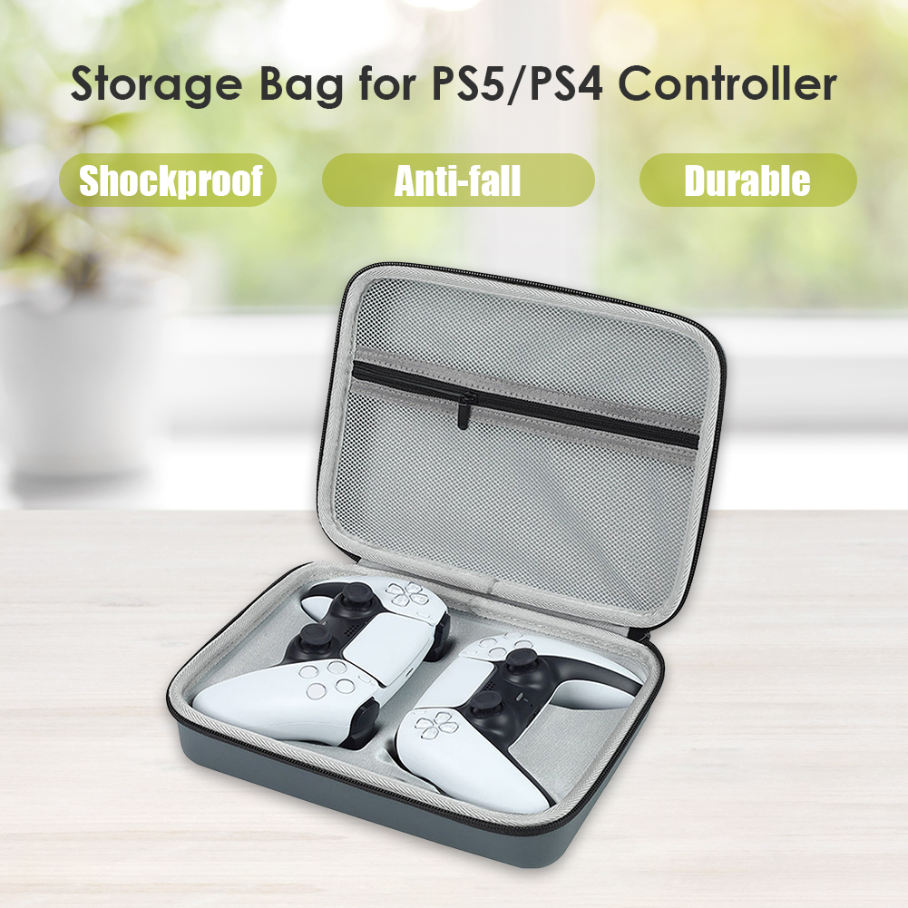 Electronic Equipment Protective Pack Case Hard Shell Dual Controller Travel Carrying Case for PS5 DualSense PS4 DualShock