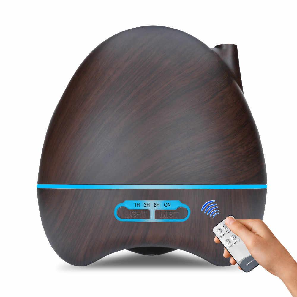 550ml télécommande arôme Air humidificateur grain de bois avec lumière LED diffuseur d'huile essentielle aromathérapie électrique brumisateur maison