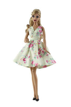 Classic Spring Floral Dress Outfit Set for Barbie 1/6 30cm BJD FR Doll Clothes Accessories Play House Dressing Up Toys Gift fur coat dress outfit set for barbie 1 6 bjd sd doll clothes accessories play house dressing up costume