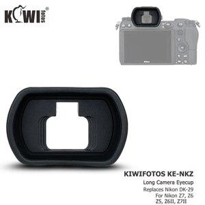 Image 2 - Kiwiนุ่มซิลิโคนExtendedกล้องEyecupช่องมองภาพสำหรับNikon Z5 Z7 Z6 Z6II Z7IIยาวEye Eye Eyeshadeแทนที่DK 29