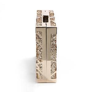Image 3 - โลหะเรขาคณิตทองคลัทช์คุณภาพสูงเลื่อมคลัทช์กระเป๋าถือหรูผู้หญิงกระเป๋าออกแบบกระเป๋าสะพายZD1349