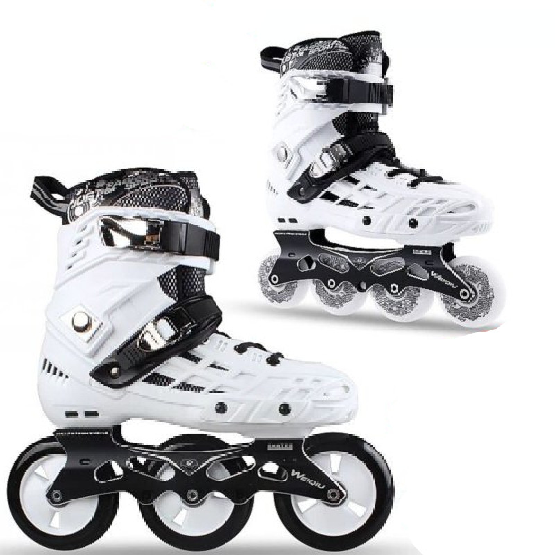 3 Wheels Speed 4 Wheel Slalom Inline Skates Shoes For Adults Roller Skating Patines School Boys Girl 80mm 100mm Rolling Sneaker