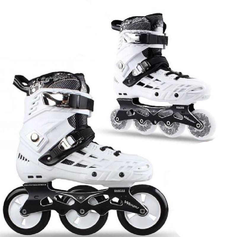 3 Wheels Speed 4 Wheel Slalom Inline Skates Shoes For Adults Roller Skating Patines School Boys Girl 80mm 100mm Rolling Sneaker