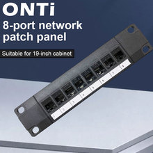 ONTi 8 Port Straight-through CAT6 Patch Panel RJ45 Network Cable Adapter Keystone Jack Ethernet Distribution Frame