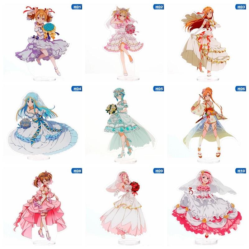Anime Sword Art Online SAO Kirito Kazuto Asuna Acrylic Stand Figure Model  Cosplay Acrylic Figure Stand Model Plate Decor Gift