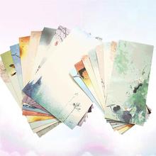 6 zestawów chiński stylowy nadruk koperta i list zestaw papierów piękny wzór koperty pisanie papeterii koperta zestaw losowo tanie tanio CN (pochodzenie) Letter Paper and Envelopes Set Envelope Paper Practical Envelope Letter Envelope Envelope Sets