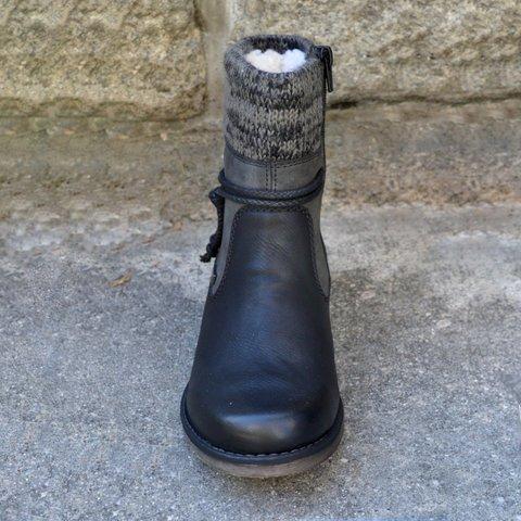 Outono inverno sapatos de lã engrossar mulheres