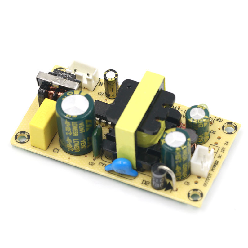 AC-DC 12V2A 24V1A Switching Power Supply Module Bare Circuit AC100-265V to DC12V2A DC24V1A Board for Replace/Repair