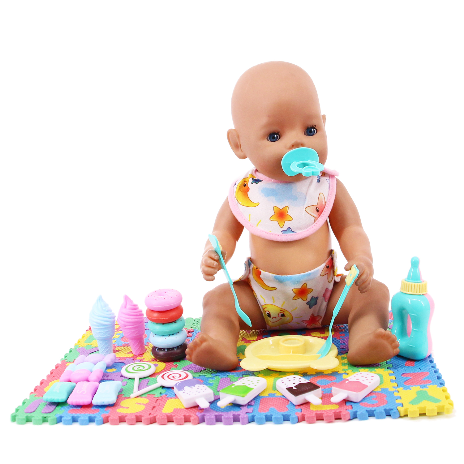 Doll Clothes Mini Play Toy Blanket Food Candy Bowel Nipple For 18 Inch American Of Girl&43Cm Baby New Born Doll Our Generation-1