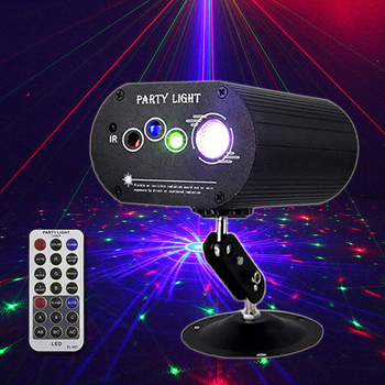 Party Lights RGB 4lens Laser Light DJ Disco LED Stage Projector Lamp for Home Party KTV DJ Dance Floor tv rear projector lamp 915p026010 dj for mitsubishi