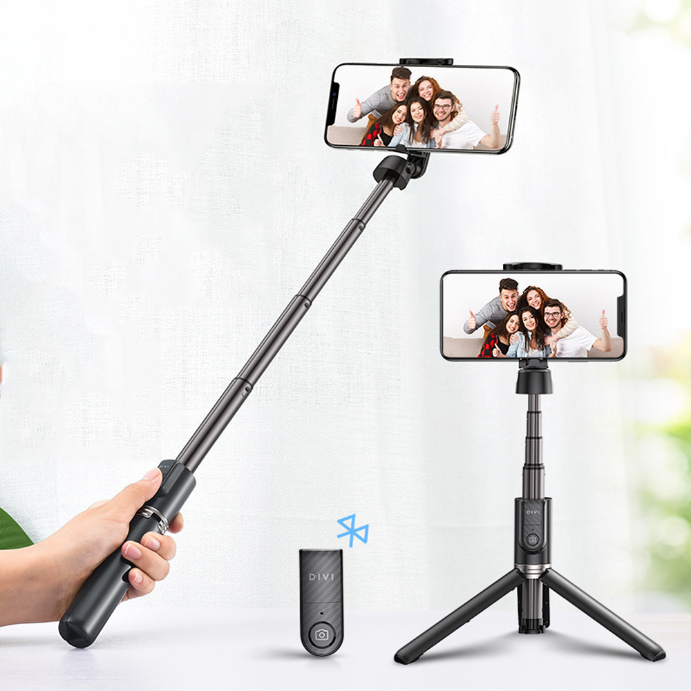 Bluetooth Selfie Stick Aluminum Alloy with LED Light Remote Control Anti-Shake Universal Phone Photo Video Adjustable Tripod