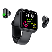 Reloj inteligente X5 con TWS, auriculares inalámbricos por Bluetooth, dos en uno, 1,54 pulgadas, llamada, música, banda deportiva, para Android IOS