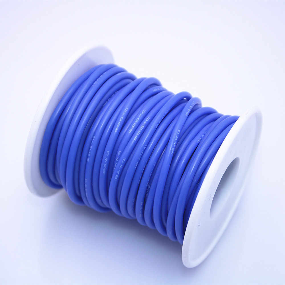 10 Meter/50 Meter Fleksibel Silikon Tahan Temperatur Tinggi Kawat 12awg 13 14 15 16 17 18 20 22 berkualitas Tinggi Kabel