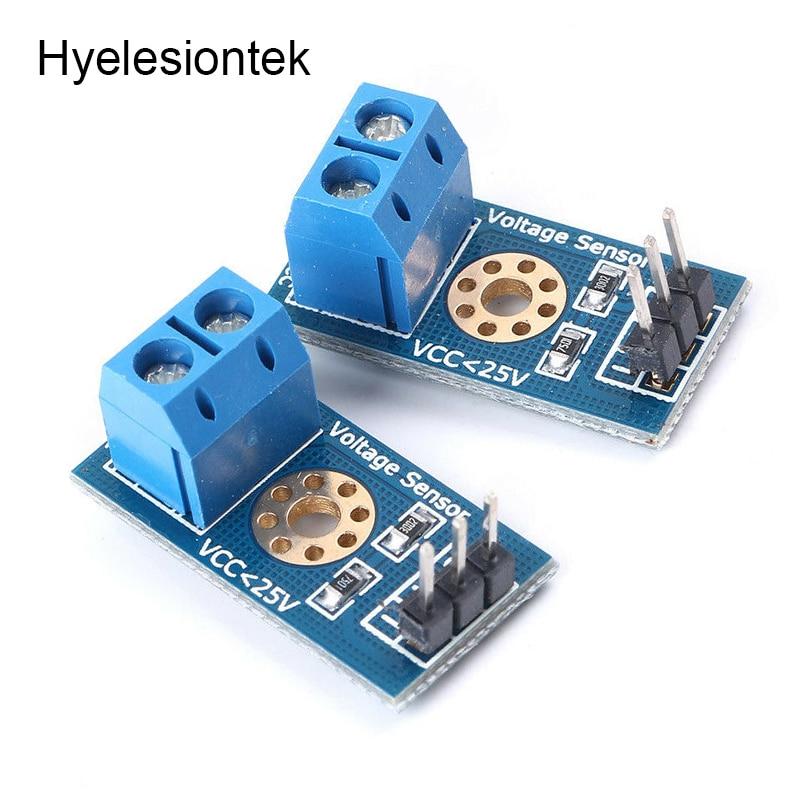 2pcs Voltage Sensor For Arduino Voltage Detection Detector Sensors Module For Raspberry Pi Robot DC 0-25V Voltage Sensor Module