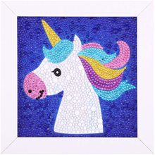 LeePakQ DIY 5D Diamond for Kids Unicorn Diamond Painting Kits for Children Unicorn Piant with Diamonds for Home Wall Decor,16/×16 inches Pink Unicorn
