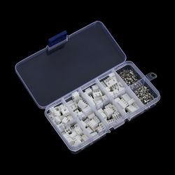 Kit de terminales de paso XH2.54, 2p, 3p, 4p, 5 pines, 230mm, carcasa, pines, conector JST, Kit de adaptadores de cable de XH, 2,54 Uds.