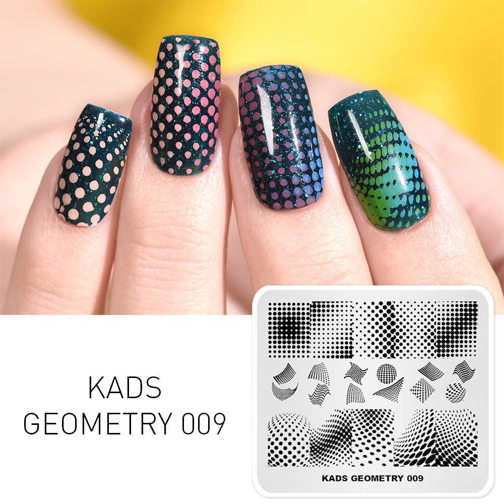 1Pc Nail Art Stampingแผ่นสี่เหลี่ยมผืนผ้ารูปแบบเล็บแสตมป์แม่แบบเรขาคณิตเล็บแผ่นพิมพ์Stencilเครื่องมือ