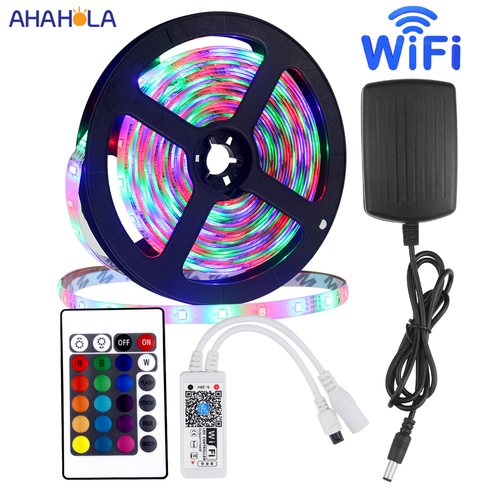 2835 Smd Waterproof 12v Rgb Led Strip Wifi Remote Control Tiras Led Strip Rgb 12v Led Light Strips For Bed Room