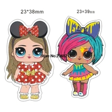 1.2inch Mixed Flatback cartoon Popular girl resin cabochon Resin planar for DIY handmade materials 50pcs  RET1558