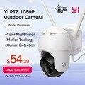 YI 1080P PTZ наружная камера Wifi цифровой зум AI человеческое автоматическое отслеживание Беспроводная ip-камера Аудио ИК Ночное Видение безопасно...