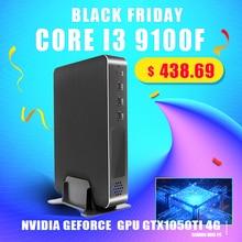 סופר מיני משחקי מחשב Intel Core i9 9900 i7 9700F i5 9400F GPU GTX1050TI 4G Windows 10 פרו Nuc מחשב NVMe 2 * HDMI2.0 DP Ac Wifi