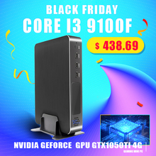 Siêu Mini Chơi Game Intel Core I9 9900 I7 9700F I5 9400F GPU GTX1050TI 4G Windows 10 Pro Nuc Máy Tính NVMe 2 * HDMI2.0 DP Ac Wifi
