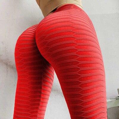 CHRLEISURE Sexy Fitness Leggings High Waist Push Up Pants Women Slim Solid Leggings Sweat-absorbent Breathable