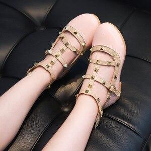 Image 3 - 2019 Yaz Kızlar Sandalet Moda Chaussure Fille Roma Çizmeler Yüksek top çocuk sandaletleri Yürümeye Başlayan Çocuk Sandalet Kızlar Ayakkabı