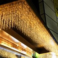 Kerst Led Ijspegel Lichtslingers Outdoor Kerstverlichting Garland Voor Wedding Party Vakantie Verlichting Tuin Straat Thuis Decoratie-in Verlichtingsstrings van Licht & verlichting op