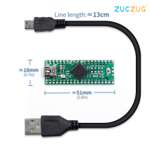 Teensy 2.0++ USB AVR Development Board ISP U Disk Keyboard Mouse Experimental AT90USB1286