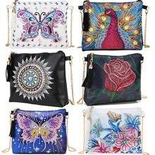 Diamond Painting Purses Purse Wallet Women Crossbody Handbag Shoulder Bag DIY Special Shaped Drill Cross Stitch Embroidery Kit