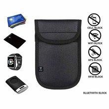 Caja negra para llaves de coche, bloqueo de señal RFID, Faraday, funda para llavero, bolsa, bloqueo, escáner RFID, 1 ud.