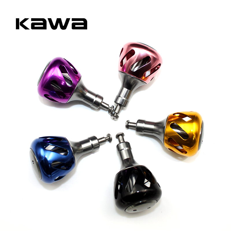 Kawa liga de alumínio carretel de pesca lidar com botões para 800-3000 molinetes de fiação equipamento de pesca acessório