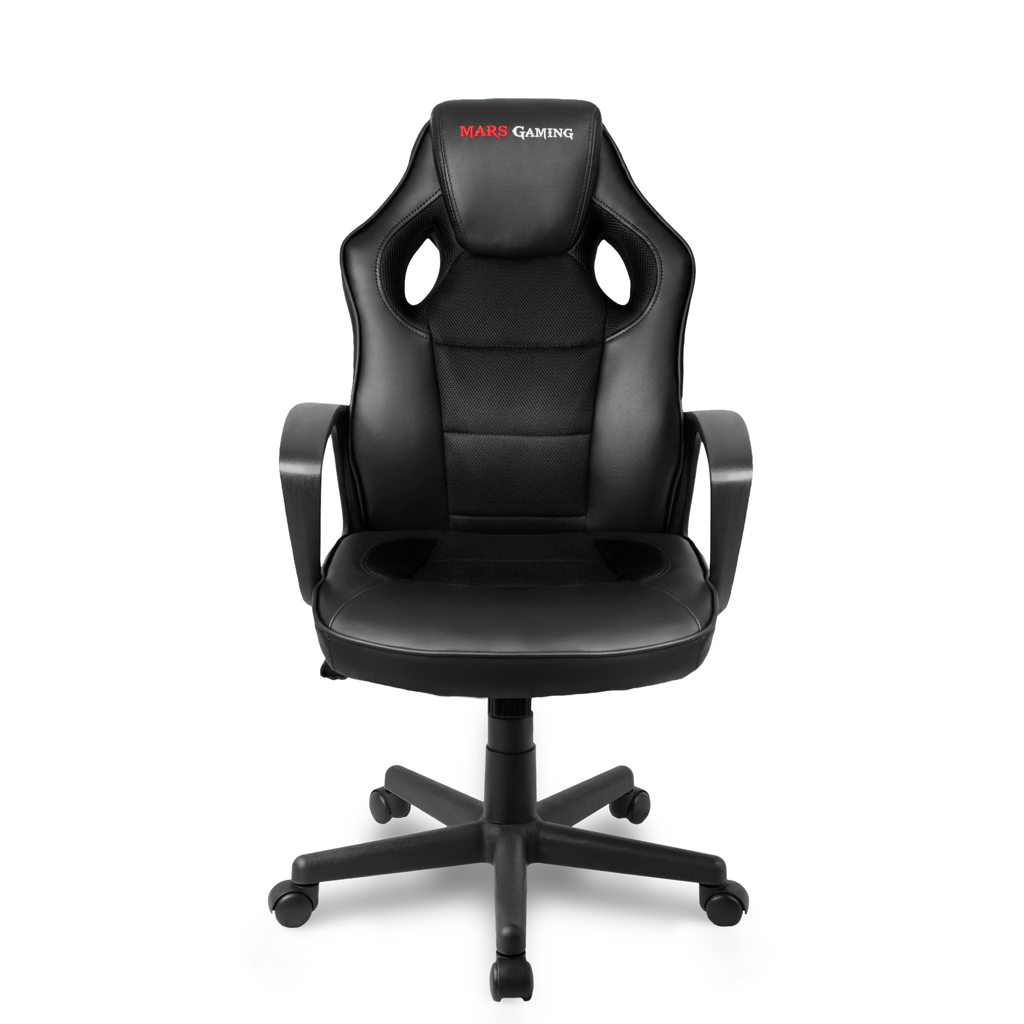 Mars Gaming MGC0BK, Gaming Chair, Tilt 15 Grees, Rest Arm Fixed, Black