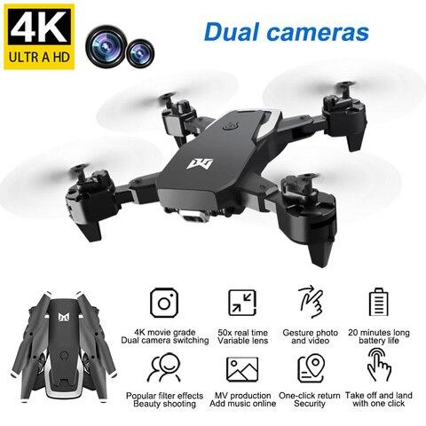 2020 nova kk6 rc quadcopter zangao 4 k hd camera dobravel wifi fpv camera dupla