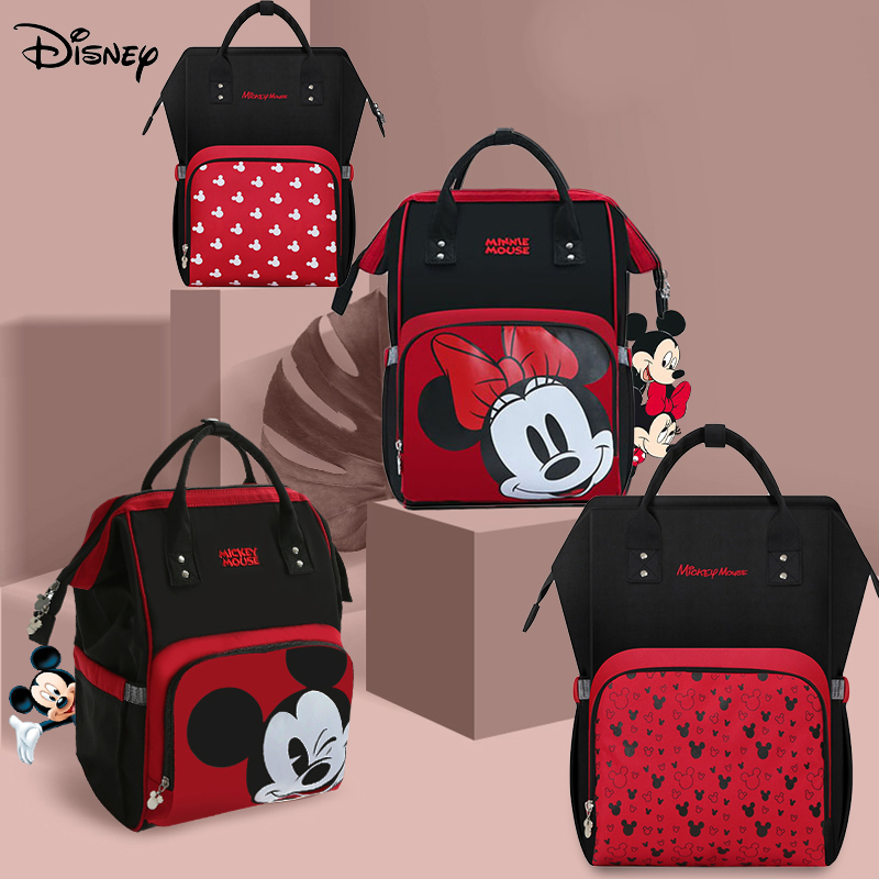 Disney Minnie Mickey Diaper Bag Baternity Baby Multifunctional Stroller Nappy Bag travel Backpack For Mom USB Charging Large New
