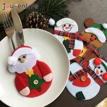 8 stücke Frohe Weihnachten Messer Gabel Besteck Tasche Set Natal Weihnachten Dekorationen für Home 2021 Neue Jahr Eve Xmas Party dekoration