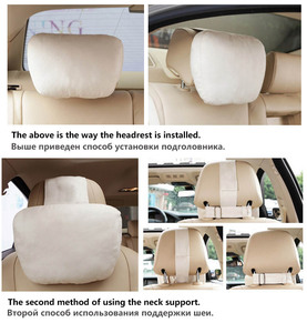 Image 4 - Top Quality Car Headrest Neck Support Seat / Maybach Design S Class Soft Universal Adjustable Car Pillow Neck Rest Cushion