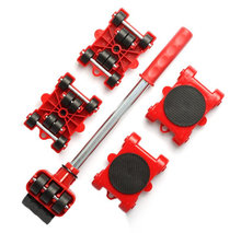 5Pcs/Set Furniture Mover Tool Transport Lifter Heavy Stuffs Moving Wheel Roller Bar Hand Tools Moving Device Tool Dropshipping