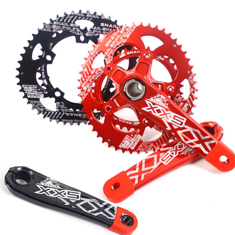 110BCD 50//35T Double Oval Chainwheel Road Folding Bike Sprocket Chainring Bolts