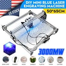 50*65cm Mini 3000MW Blue Laser CNC Engraving Machine 2Axis DC 12V DIY Laser Engraver Desktop Wood Router Cutter Printer