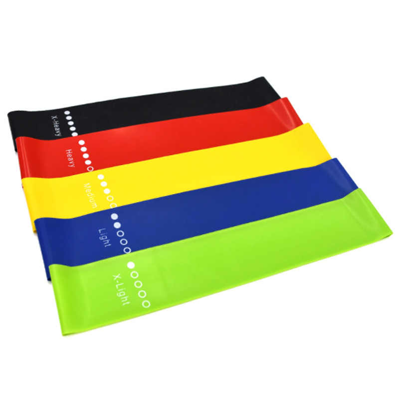 5 Pieces / Set Resistance Band Latex Pull Band Sports Fitness Yoga Resistance Band Fitness Belt Tension Belt Strength Training E