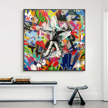 Abstract Graffiti Art Canvas Painting Art Posters and Prints Modern Wall Decorative Pictures for Living Room Home Decor