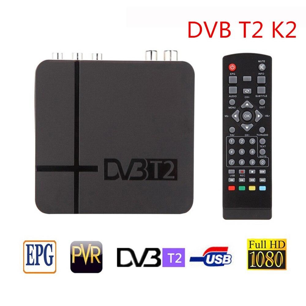 1080P PVR Mini décodeur DVB-T2 terrestre numérique Satellite signal récepteur décodeur TV boîte RJ45 Lan TV Tuner décodeur